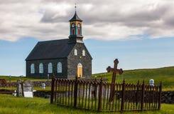 Gammal Island kyrka och kyrkogård Royaltyfri Foto