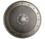 Gammal isolerad illustration 3d för metall sköld Arkivfoto