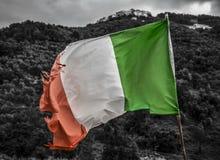 Gammal italiensk flagga Royaltyfri Bild