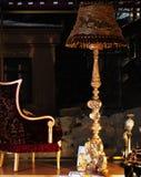 gammal italiensk lampa för stolsgolv Royaltyfri Foto