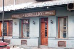 Gammal italiensk restaurang Arkivbild