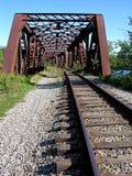 Gammal järnväg överbryggar Fotografering för Bildbyråer