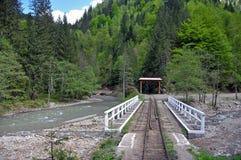 Gammal järnväg Arkivfoton
