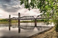 gammal järnväg för bro Fotografering för Bildbyråer