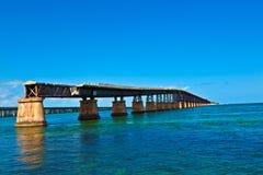 gammal järnväg för bro Royaltyfria Bilder