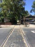 Gammal järnväg i Buenos Aires Royaltyfri Fotografi
