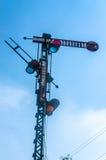 gammal järnväg signalering arkivbild
