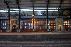 gammal järnväg station Royaltyfria Foton