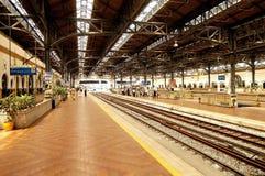 gammal järnväg station Royaltyfri Foto