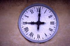 gammal järnväg station för klocka Arkivbilder