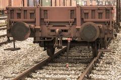 2009 gammal järnväg ukraine för april last vagn Royaltyfria Foton