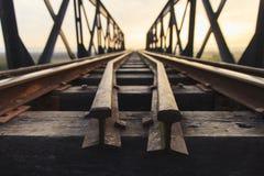 Gammal järnväg viadukt Arkivbilder