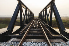 Gammal järnväg viadukt Arkivfoto