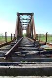 Gammal järnvägsbro Royaltyfri Bild