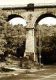 Gammal järnvägsbro, Prague Arkivfoto