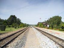 Gammal järnvägstation Royaltyfria Bilder