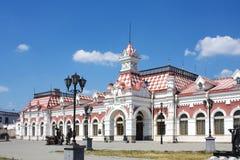 Gammal järnvägstation i Yekaterinburg, Ryssland royaltyfri foto