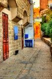 Gammal Jaffa gränd Arkivfoto