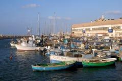 Gammal Jaffa port i Tel Aviv Arkivbilder