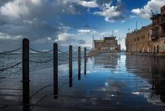 Gammal Jaffa port. Israel. Arkivfoton