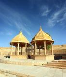Gammal jain cenotaph i jaisalmer india Arkivbilder