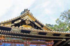 Gammal japansk tempel arkivfoto