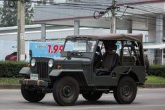 Gammal Jeep Private bil Royaltyfria Foton