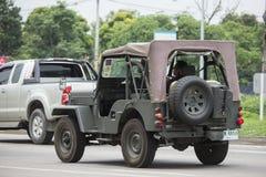 Gammal Jeep Private bil Arkivfoto