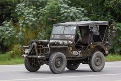 Gammal Jeep Private bil arkivbilder