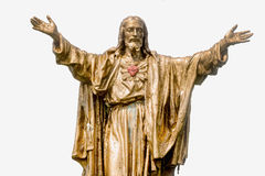 Gammal Jesus Christ guld- staty Royaltyfria Foton
