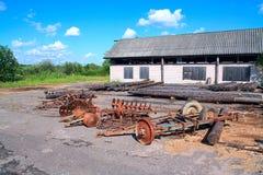 gammal jordbruks- mekanism Royaltyfri Bild