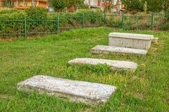Gammal judisk kyrkogård i Pristina Royaltyfria Bilder