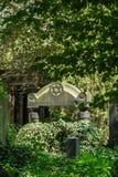 Gammal judisk kyrkogård, Wroclaw arkivfoton