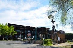 Gammal köpcentrum i den gamla staden Temecula Fotografering för Bildbyråer