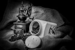 Gammal kaffegrinder Royaltyfri Foto