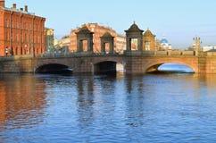 Gammal-Kalinkin bro i St Petersburg Royaltyfria Foton