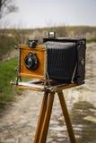 gammal kamera för stort format arkivfoton