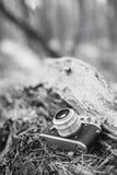 Gammal kamera för tappningLiten-format Rangefinder Royaltyfri Fotografi