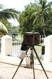 gammal kamera mycket Royaltyfri Bild