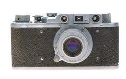 Gammal kamera på en vit bakgrund Royaltyfri Foto