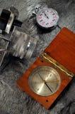 gammal kamerakompass Royaltyfria Foton