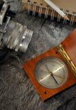 gammal kamerakompass Arkivbild