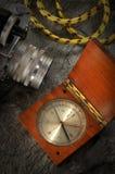 gammal kamerakompass Royaltyfri Bild