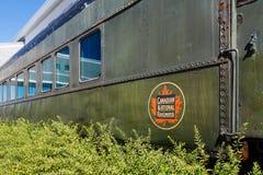 Gammal kanadensisk järnvägbil Royaltyfria Bilder