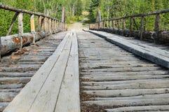 Gammal kanjonliten vikbro, Yukon territorium, Kanada 03 Royaltyfri Foto