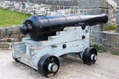 Gammal kanon Quebec City, Kanada Arkivfoton
