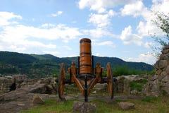 Gammal kanon, utställningsföremål arkivfoton