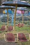 Gammal karusell i parkera Royaltyfri Foto