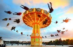 Gammal karusell i Tivoli Royaltyfri Bild