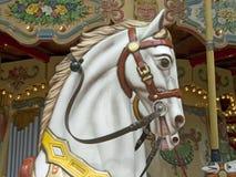 gammal karusellhäst Arkivbild